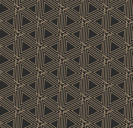 Dark Creative Graphic Cell Deco Pattern. Continuous Elegant Vector, Diagonal Textile Texture. Seamless Ornate Triangle, Array Texture. East Pattern Pattern