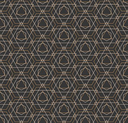 Repetitive Simple Vector Diagonal, Design Texture. Seamless Fabric Graphic Symmetrical Tile Pattern. Continuous Creative Hex, Array Texture. Tileable Background Pattern