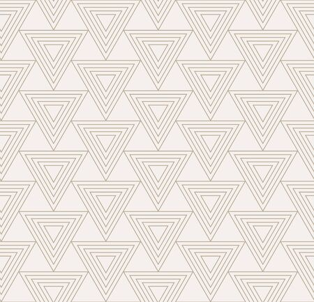 Repeat Ornament Graphic Triangle, Decor Pattern. Seamless Linear Vector Geo Background Texture. Continuous Black Diagonal, Repetition Texture. Wave Decoration Pattern Illustration