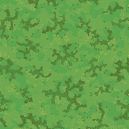 Brown Seamless Modern Camouflage, Graphic Texture.  Repeated Vector Khaki Abstract, Camo Art. Green Repeated Digital Camouflage, Graphic Design. Seamless Vector Patterd Design.