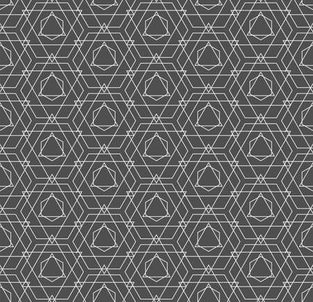 Repeat Ornament Graphic Continuous, Print Pattern. Continuous Abstract Vector Cell Texture Texture. Seamless Modern Poly, Plexus Pattern. Black Pattern Texture