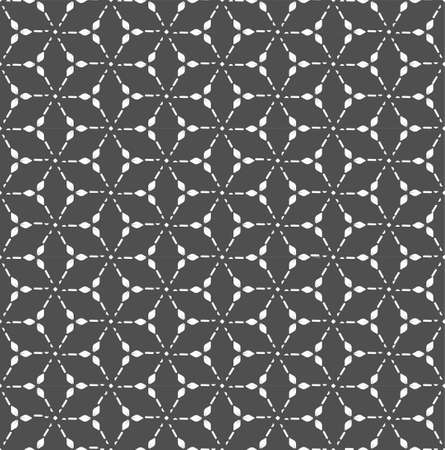 Repetitive Monochrome Vector Honeycomb, Art Texture. Repeat Classic Graphic Rhombus Texture Pattern. Continuous Decorative Continuous, Backdrop Pattern. East Array Texture  イラスト・ベクター素材