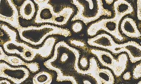Yellow Repeated Water Graphic Art. Printing Material Copper Seamless Digital Vector Print. Orange Seamless Abstract Vector Clouds. Seamless Monochrome  Printing Material