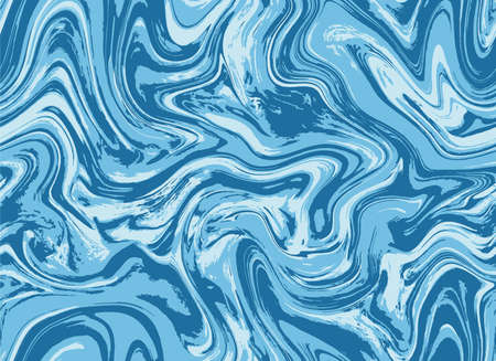 Indigo Repeat Grunge Graphic Design. Cyan Blue Creative Vector Flow. White Seamless Fabric Paint Marble. Bright Blue Watercolor Paint Illustration. Navy Seamless Water.