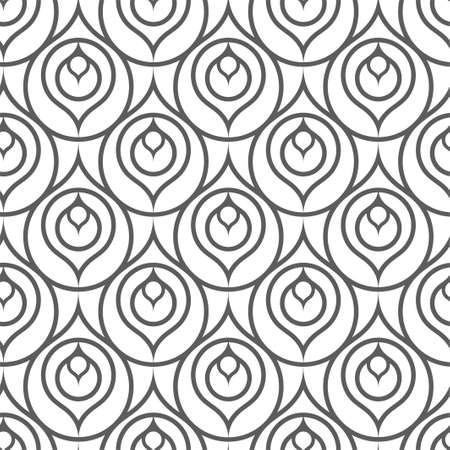 Continuous Linear Graphic Thirties Deco Pattern.