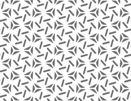 Seamless Black Vector Circle Repetition Pattern.