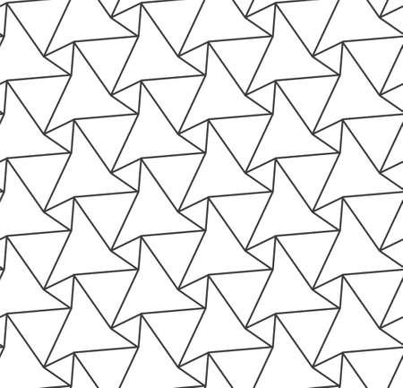 Continuous Ornament Vector Diagonal, Lattice Pattern.  イラスト・ベクター素材