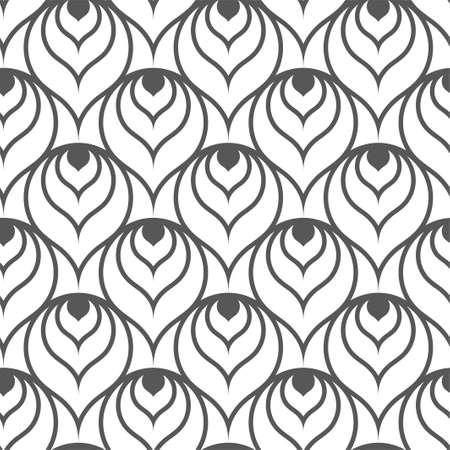 Seamless Decorative Vector Round Pattern Texture.