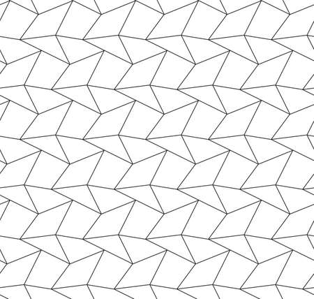 Continuous White Graphic Rhombus  Pattern.  イラスト・ベクター素材
