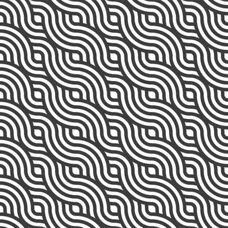 Repetitive Classic Vector Flow Deco Pattern.