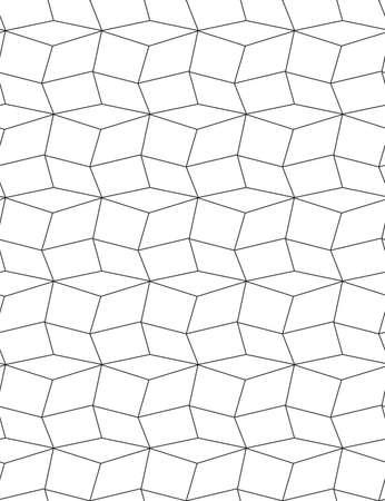Continuous Geometric Graphic Triangular Decor Pattern.