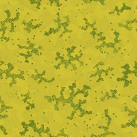 Seamless Vector Patterd Design.  Seamless Vector Brown Abstract, Camo Design. Green Seamless Circle Camouflage, Vector Art. Khaki Repeated Artistic Camouflage, Graphic Wallpaper.