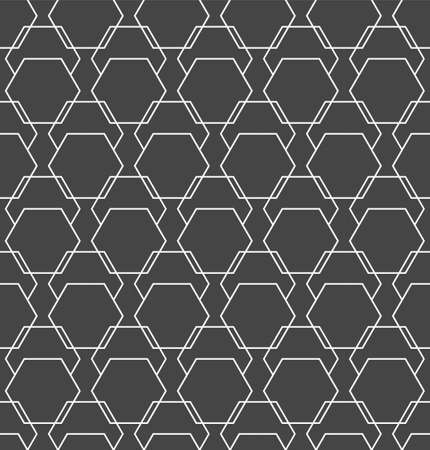 Repetitive Ornament Vector Hex, Backdrop Texture. Repeat Modern Graphic Polygon Grid Pattern. Continuous Ramadan Continuous, Wallpaper Pattern. Asian Pattern Texture