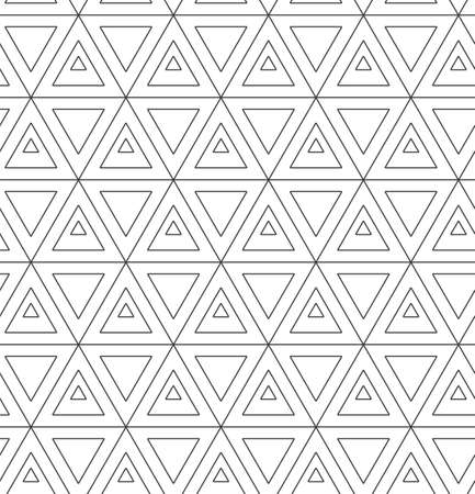 Repetitive Ornate Graphic Luxury, Lattice Texture. Repeat Modern Vector Poly Shapes Pattern. Seamless Black Web, Tile Texture. Abstract Repetition Pattern  イラスト・ベクター素材