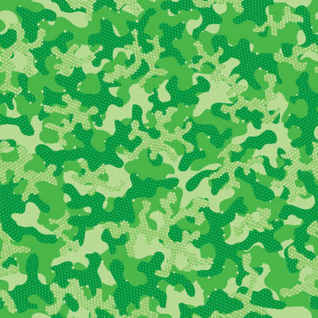 Green Camouflage Seamless Pattern. Beige Seamless Abstract Graphic Art. Camouflage Print Olive Repeated Military Vector Pattern. Desert Repeated Fashion Vector Camouflage. Green