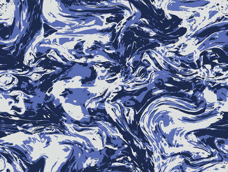Blue Seamless Watercolor Paint Oil. Indigo Blue Fashion Graphic Wallpaper. Aqua Repeat Aqua Vector Background. White Repeat Abstract Vector Print. Pastel Blue Art.