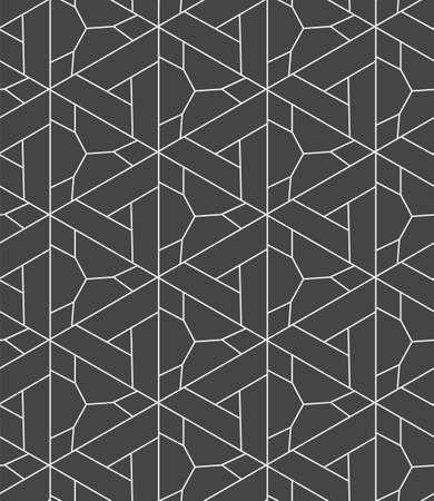 Repetitive Elegant Vector Triangular, Grid Pattern. Seamless White Graphic Diagonal Lattice Texture. Continuous Ornament Geo, Backdrop Texture. Creative Tile Pattern