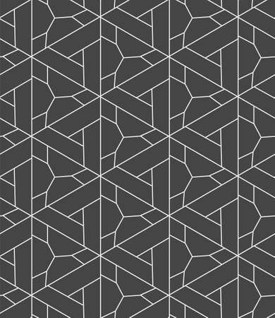 Repetitive Elegant Vector Triangular, Grid Pattern. Seamless White Graphic Diagonal Lattice Texture. Continuous Ornament Geo, Backdrop Texture. Creative Tile Pattern