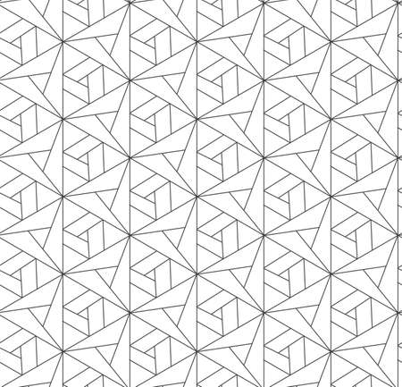 Seamless Ornate Graphic Triangular, Pattern Pattern. Repetitive Creative Vector Web Repetition Texture. Continuous Line Luxury, Print Texture. Tileable Design Pattern