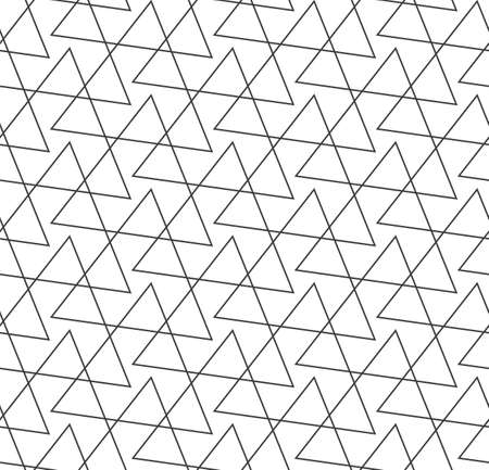 Seamless Vintage Graphic Web, Background Texture. Repetitive Minimal Vector Triangular Lattice Pattern. Continuous Ramadan Geo, Grid Pattern. Tileable Pattern Texture Illustration