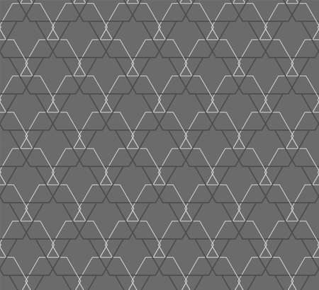 Continuous Elegant Vector Symmetrical, Lattice Pattern. Repetitive Line Graphic Hex Design Texture. Repeat East Polygon, Decor Pattern. Abstract Array Texture  イラスト・ベクター素材