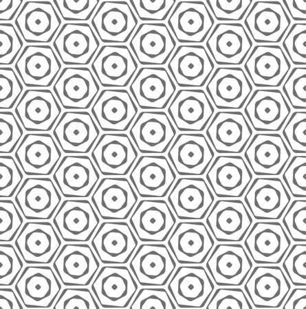 Repetitive White Vector Continuous, Backdrop Texture. Continuous Ornament Graphic Honeycomb Shapes Pattern. Repeat Asian Web, Decoration Texture. Modern Grid Pattern