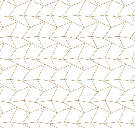 Repeat East Graphic Rhombus Wallpaper Texture. Seamless Ramadan Vector, Polygon Shapes Pattern. Continuous Ornate Technology, Repetition Texture. Monochrome Texture Pattern