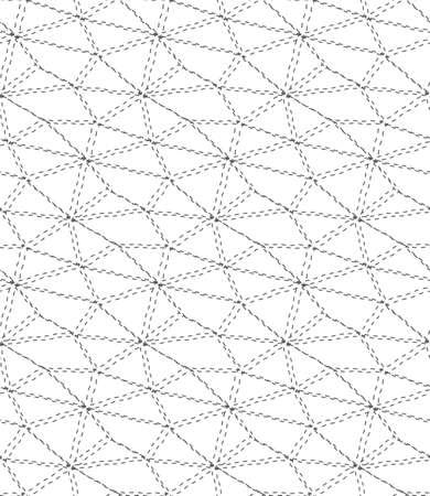 Seamless Geometric Vector Web Plexus Texture. Repeat Asian Graphic, Continuous Repeat Pattern. Continuous Vintage Rhombus, Grid Texture. Ornament Texture Pattern