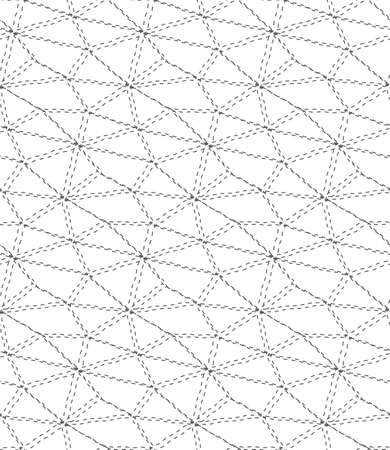 Seamless Geometric Vector Web Plexus Texture. Repeat Asian Graphic, Continuous Repeat Pattern. Continuous Vintage Rhombus, Grid Texture. Ornament Texture Pattern