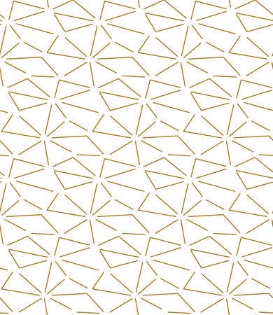 Repetitive Ornate Graphic Triangular Deco Pattern. Seamless Line Vector, Triangle Textile Texture. Repeat Elegant Poly, Swatch Pattern. East Repetition Texture
