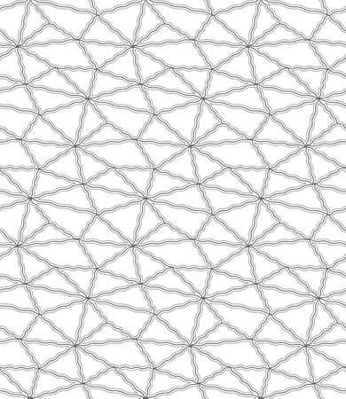 Continuous Creative Vector Technology Decor Texture. Repetitive Tileable Graphic, Geo Decoration Pattern. Repeat Elegant Web, Grid Texture. Asian Shapes Pattern