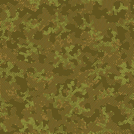 Seamless Vector Patterd Design.  Repeated Graphic Khaki Spots, Camo Clouds. Brown Repeated Monochrome Camouflage, Graphic Camouflage. Green Seamless Color Camouflage, Vector Print.