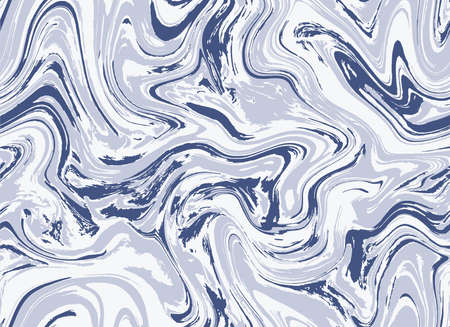 Navy Blue Fluid Vector Oil. Blue Seamless Acrylic Graphic Marble. Light Repeat Creative Paint Agate. Pastel Blue Liquid Graphic Design. Bright Seamless Water. Illustration