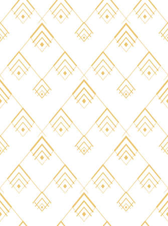 Repeat White Graphic Artdeco Lattice Texture. Continuous Decorative Vector Braid Decoration Pattern. Seamless Wave 1920 Background Texture. Fashion Tile Pattern.