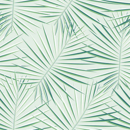 Eco Repeated Tree Graphic Art. Vibrant Seamless Hawaii Vector Design. Vector, Vivid Seamless Botanical Graphic Pattern. Tropical, Pattern, Light Seamless Pattern. Ilustrace