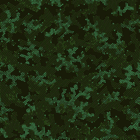 Khaki Repeated Creative Camouflage, Graphic Design.  Seamless Vector Green Military, Camo Clouds. Beige Seamless Spots Camouflage, Vector Art. Seamless Vector Patterd Design.