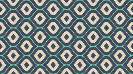 Seamless pattern geometric.  Retro fabric texture wallpaper.  Color mosaic shapes background.  Seamless vector pattern.