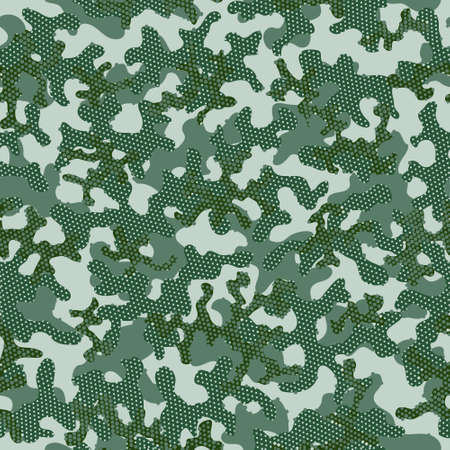 Camouflage Desert Beige Seamless Creative Graphic Wrapping. Desert Seamless Circle Vector Background. Olive Repeated Army Graphic Pattern. Brown Camouflage Seamless Pattern. Green Illustration
