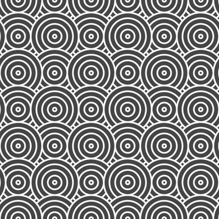 Repeat White Vector Curly Background Pattern. Continuous Retro Graphic Curved Swatch Texture. Repetitive Linear Wavy Deco Pattern. Fashion Backdrop Texture.