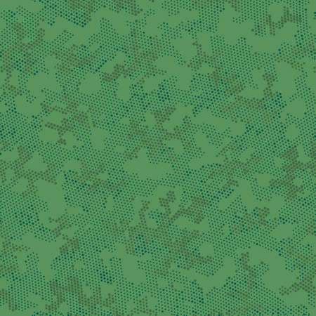 Khaki Repeated Doted Camouflage, Graphic Art.  Seamless Vector Brown Military, Camo Camo. Green Repeated Point Camouflage, Vector Pattern. Seamless Vector Patterd Design. Illustration