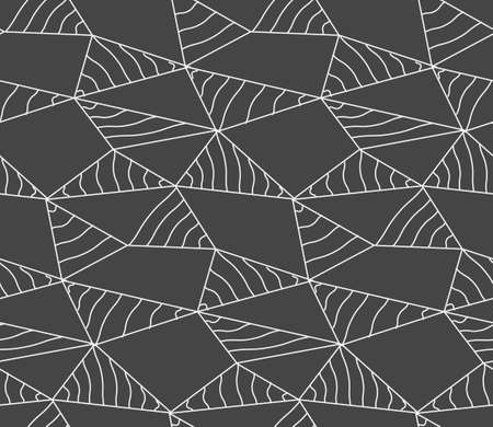 Repeat Ornament Graphic Web Array Pattern. Seamless Linear Vector, Poly Background Texture. Repetitive Asian Polygon, Decor Texture. Geometric Texture Pattern 向量圖像