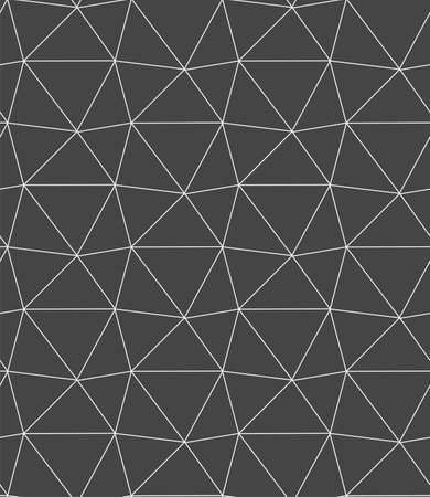 Seamless Monochrome Graphic Technology Shapes Texture. Continuous Ornate Vector, Polygon Repeat Pattern. Repetitive Asian Diagonal, Backdrop Texture. Creative Print Pattern