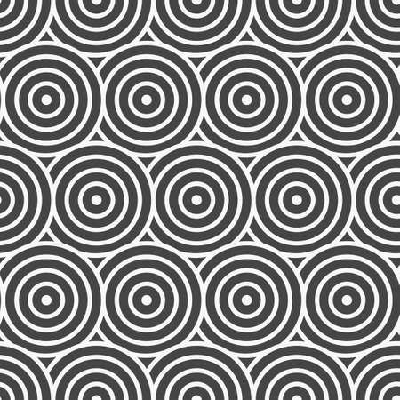 Continuous Vintage Vector Continuous Tile Pattern. Repeat Islamic Graphic Wavy Swatch Texture. Seamless Minimal Optical Lattice Texture. Simple Array Pattern.