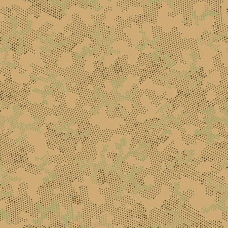 Seamless Vector Patterd Design.  Seamless Vector Brown Digital, Camo Camo. Green Repeated Spots Camouflage, Graphic Art. Khaki Repeated Color Camouflage, Graphic Wallpaper.