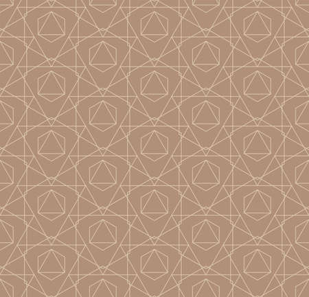 Continuous Monochrome Graphic Cell, Tile Texture. Seamless Tileable Vector Hex Lattice Pattern. Repetitive Fabric Web, Repeat Texture. Abstract Swatch Pattern