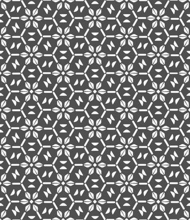 Seamless White Vector Circular Print Texture. Repetitive Creative Graphic Luxury Grid Pattern. Repeat Simple Symmetrical Repetition Pattern. Ornate Repeat Texture.