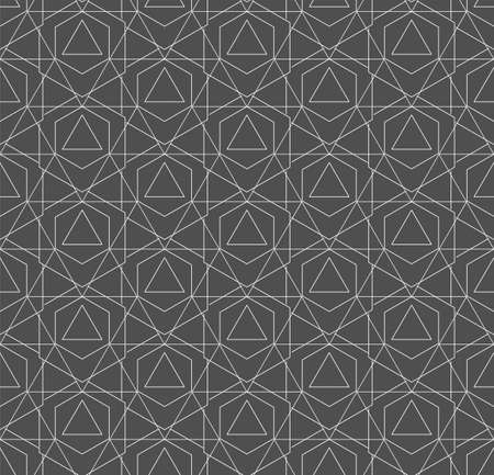 Continuous Simple Vector Technology, Background Pattern. Repetitive Retro Graphic Hexagon Pattern Texture. Seamless Creative Poly, Tile Texture. Modern Decoration Pattern Illustration