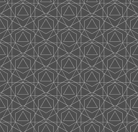 Continuous Simple Vector Technology, Background Pattern. Repetitive Retro Graphic Hexagon Pattern Texture. Seamless Creative Poly, Tile Texture. Modern Decoration Pattern Illusztráció