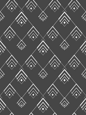 Repetitive Creative Vector 20s Plexus Pattern. Seamless Line Graphic Thirties Grid Texture. Continuous Asian Symmetrical Deco Pattern. Retro Art Texture.
