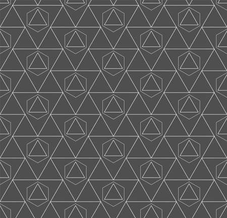 Continuous Fashion Vector Web, Lattice Texture. Repetitive Decorative Graphic Continuous Shapes Pattern. Seamless East Poly, Grid Texture. Linear Background Pattern Illustration